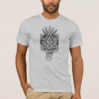 Masonic Vintage Print T-shirt Mason Freemason