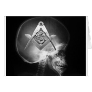 Masonic X-Ray Alien Skull Card