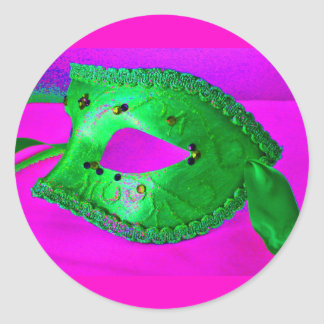 Masquerade Bash Round Stickers