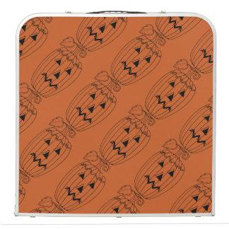 Masquerade Jack O Lantern Two Line Art Design Pong Table