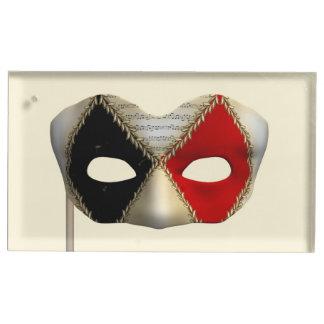 Masquerade Mask Table Card Holder
