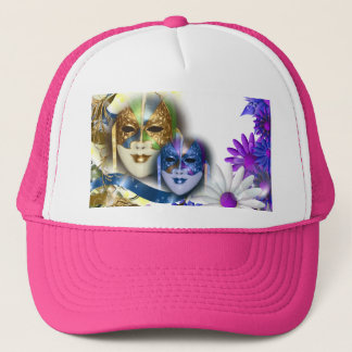 Masquerade masks girls name PERSONALIZE Trucker Hat