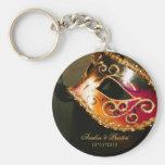 Masquerade Wedding Favour Gold Keychain