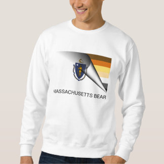 Massachusetts Bear Pride Flag Sweatshirt