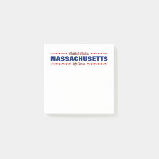 MASSACHUSETTS - My Home - United States; Hearts Post-it Notes