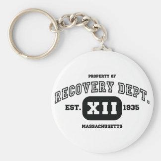 MASSACHUSETTS Recovery Basic Round Button Key Ring