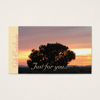 Massage Spa Sunset Business Gift Certificates