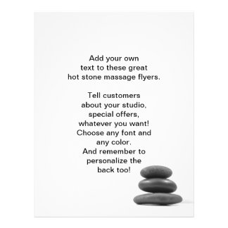 Massage Stones Photo Flyers