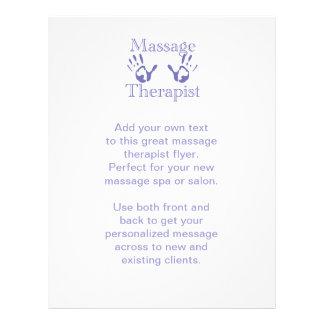 Massage Therapist: Blue Hand Prints 21.5 Cm X 28 Cm Flyer