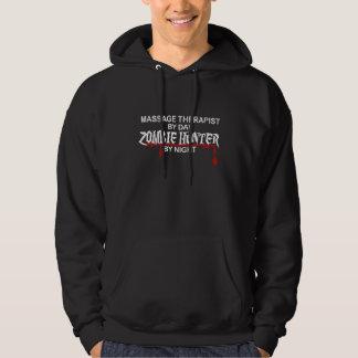 Massage Therapist Zombie Hunter Hoodie