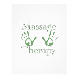 Massage therapy hand prints 21.5 cm x 28 cm flyer