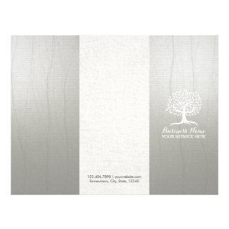 Massage Therapy Health SPA Vintage Tree Tri-Fold Flyer