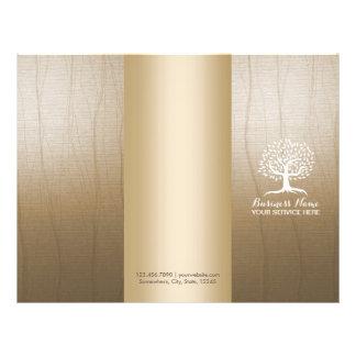 Massage Therapy Yoga Spa Vintage Tree Tri-Fold Flyer
