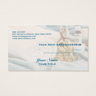 Massage Towels Essential Oils Spa Appointment Card