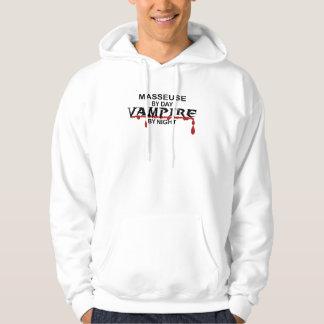Masseuse Vampire by Night Hoodie