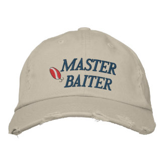 Master Baiter Fishing Embroidered Hat