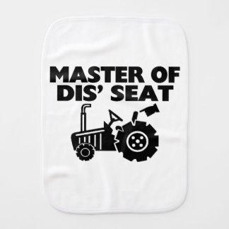 Master Of Dis' Seat Tractor Burp Cloth