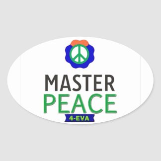 MASTER PEACE OVAL STICKER