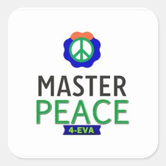 MASTER PEACE SQUARE STICKER