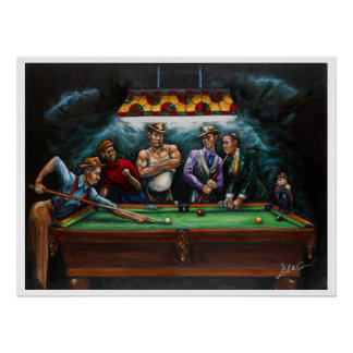 Master Pool Hall Poster