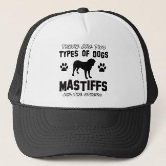 Mastiff dog breed designs trucker hat