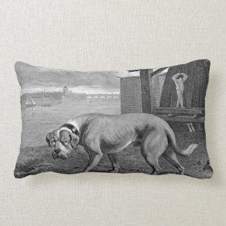 Mastiff Dog Vintage Illustration Lumbar Cushion