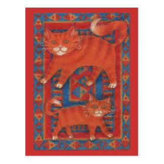 Mat Cats postcard