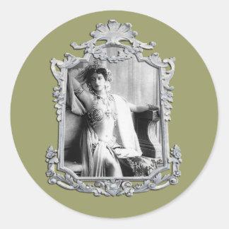 Mata Hari Round Sticker