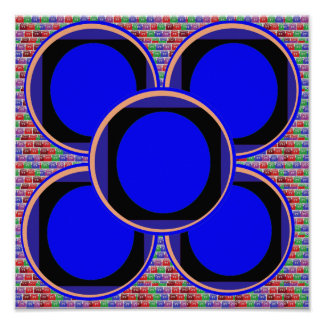 Match Wall Decorations : Circles Round Moon Disc Poster