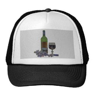 Matching Hat Modern Wine Art