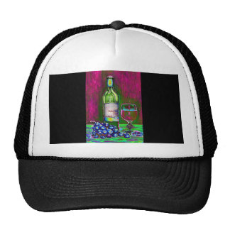 Matching Hat with Modern Wine Art