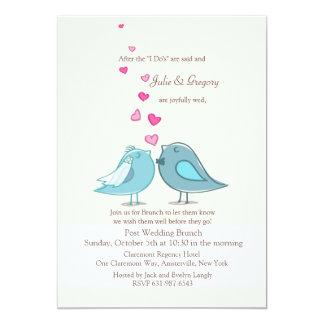 Mated Post Wedding Teal Brunch Invitation