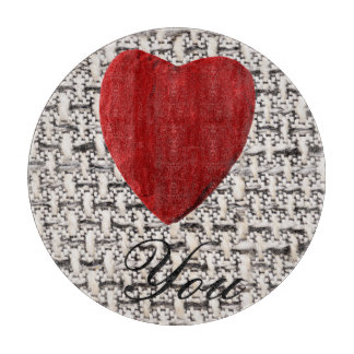 Material background Love you Cutting Board