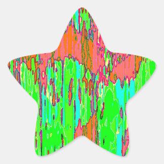 Material Drink Star Sticker