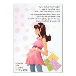 Maternity Mom Pregnancy (Girl) Announcement