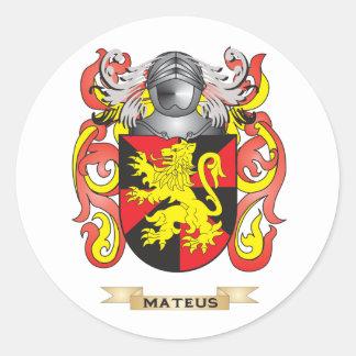 Mateus Coat of Arms (Family Crest) Round Sticker