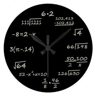 Math Geek Large Clock