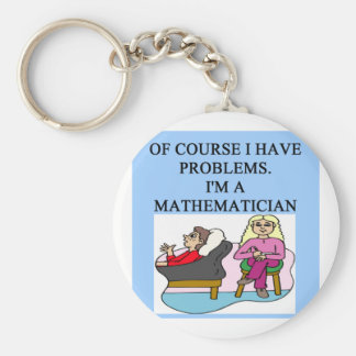 MATH psychology joke Basic Round Button Key Ring