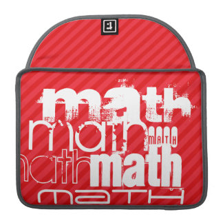 Math; Scarlet Red Stripes Sleeve For MacBook Pro