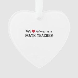 Math Teacher Love Ornament