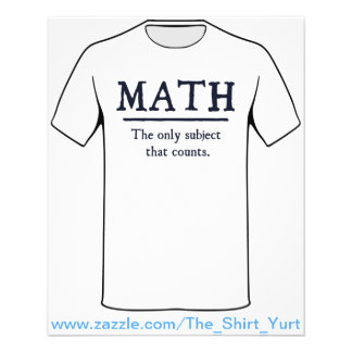 Math The Only Subject That Counts 11.5 Cm X 14 Cm Flyer