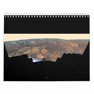 Matijevic Hill Panorama From Mars Rover Wall Calendar