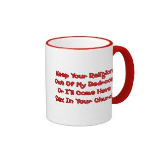 Mating In Your Church Ringer Mug