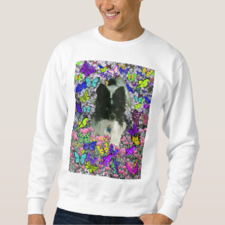 Matisse in Butterflies II - White & Black Papillon Sweatshirt