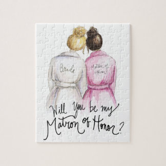 Matron of Honor? Puzzle Bl Bun Bride Br Long Maid