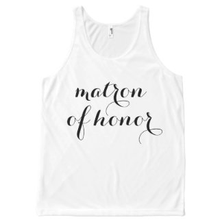 Matron of Honor Tank All-Over Print Tank Top