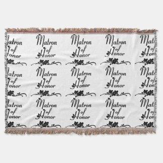Matron Of Honor Weddings Throw Blanket