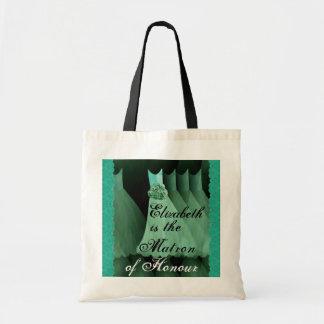 Matron of Honour Green Bridesmaid Dresses Tote Bag