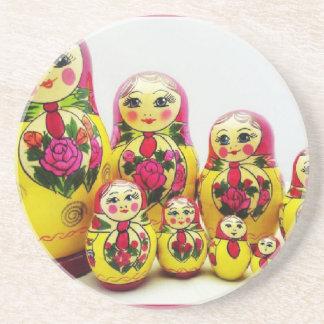 Matryoshka Dolls Drink Coasters