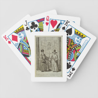 Matteo Ricci (1552-1610) and Paulus Li, from 'Chin Bicycle Playing Cards